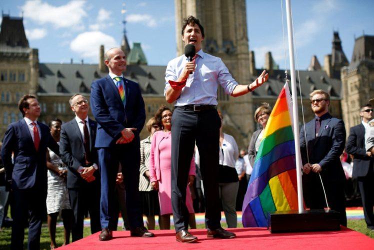Trudeau Pride Flag